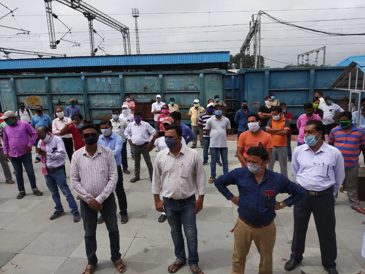 #SaveRailway_SaveNation protest by @airfindia on 8th August 2020.  #IndianRailways #NoRailwaysPrivatisation #StopPrivatisation #SaveWorkers #COVID19