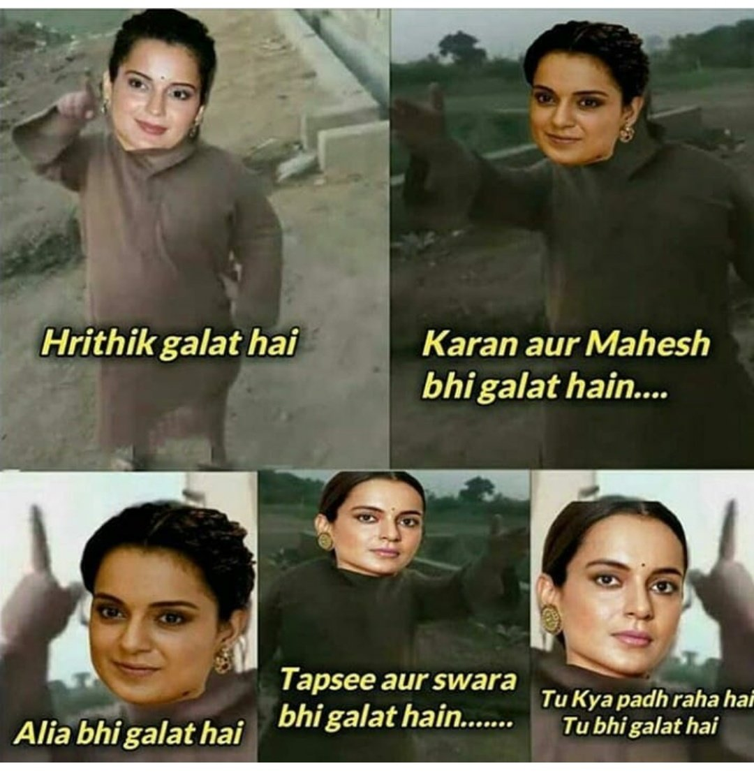 Kangana be like everyone is wrong only she is right ..wait who the hell is she to judge everyone. She is just a opportunist #SuspendTeamKangana