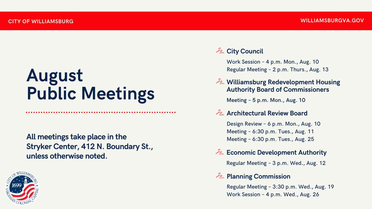 City Council meets for its work session at 4 p.m. today in the Stryker Center. See the agenda for the work session and this week's other public meetings: