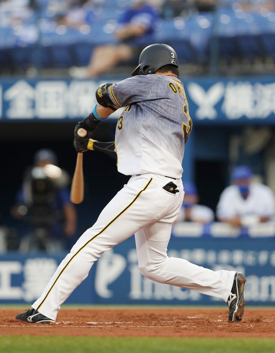 #大山悠輔 選手が第1打席で先制11号ソロです。これで #3戦連発 です!! #阪神 #tigers #本塁打 #ホームラン #3試合連続 #大山