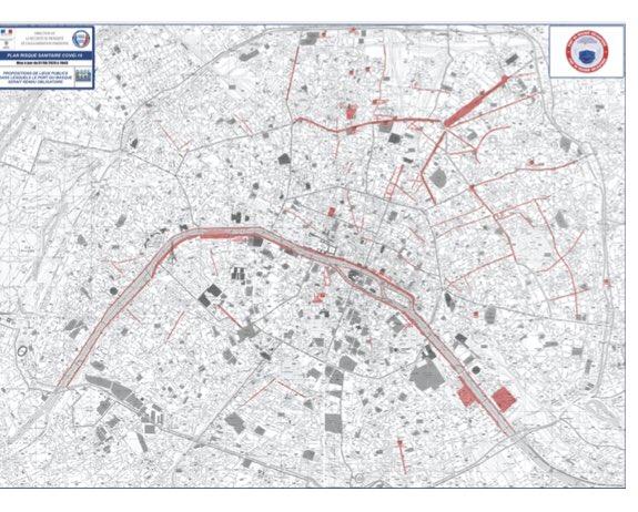 Contre le #COVID19 il faut de la rigueur.  Cette carte (du masque obligatoire) est incompréhensible.  Par ex. comment expliquer que les Champs Élysées (où il y a beaucoup de monde et venant de partout) n'y figure pas ?  Nous ne pouvons pas continuer avec un tel amateurisme.
