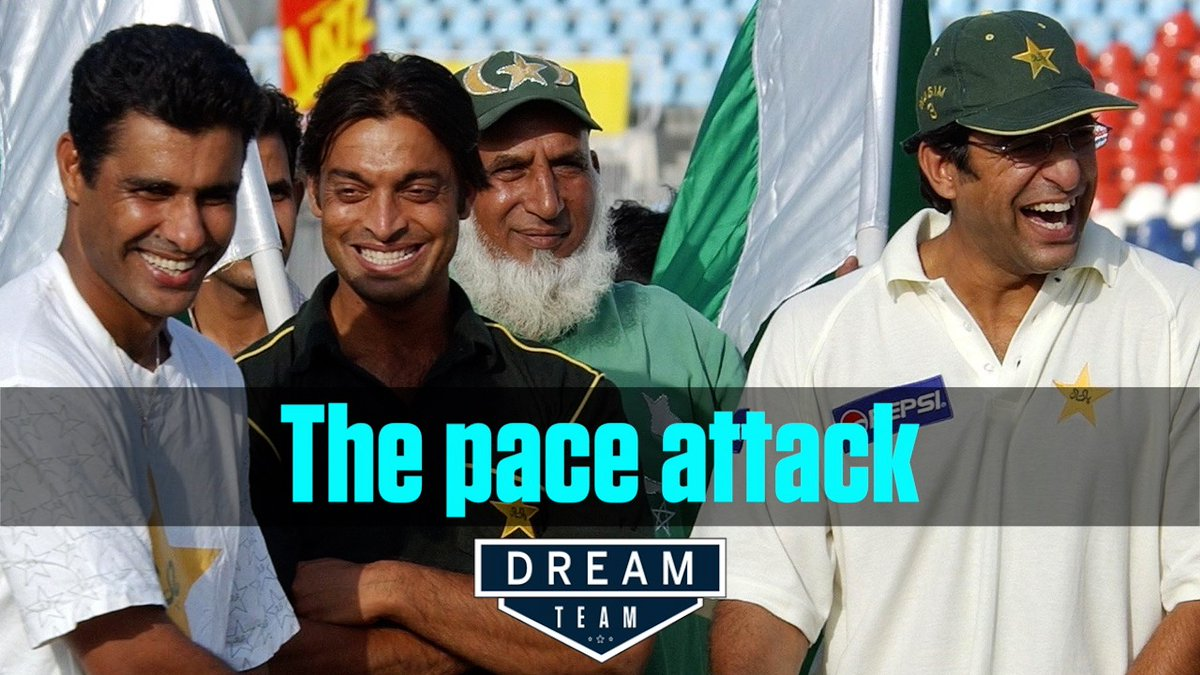 Shoaib Akhtar or Waqar Younis? It's a two-way race for a first-change fast bowler in Pakistan's best Test XI since 1990 #DreamTeam  Full episode: