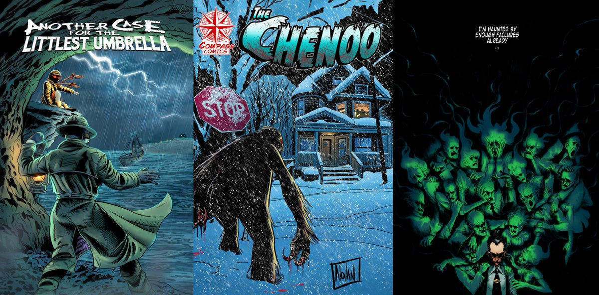 ANOTHER Case for the LITTLEST UMBRELLA   Graham Nolan's: THE CHENOO   COLTON CRUX   #indie #ComicsForEveryone #indiegogo #crowdfunding #comics #art #thriller #adventure #horror #entertainment @PromoteHorror