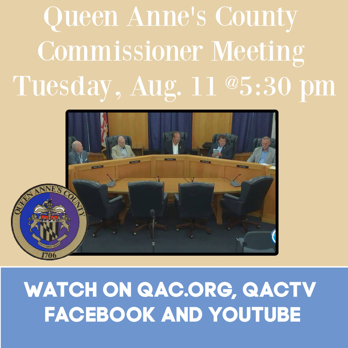 County Commissioner meeting Tuesday, August 11, 2020