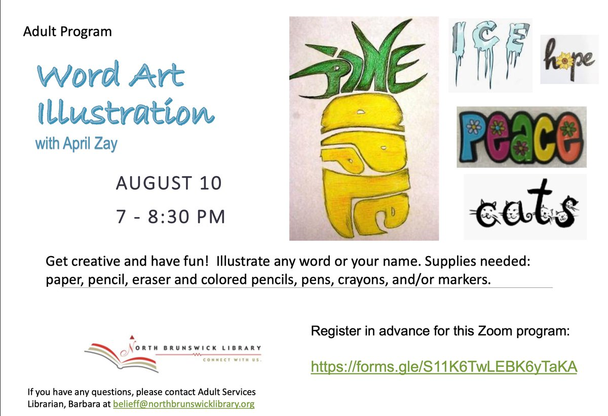 #WordArt is happening tonight at 7 PM! There's still time to register for this virtual program: