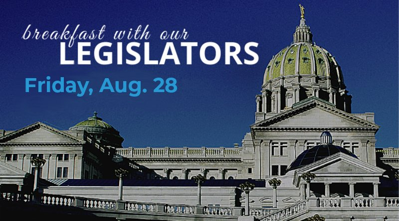 Join us Friday, Aug. 28 at 8 a.m. for a virtual opportunity to network + speak with the Berks County Senate and House delegation. 🇺🇸 There will be a panel discussion on the latest news from the state capitol.  More info. + register ➡️