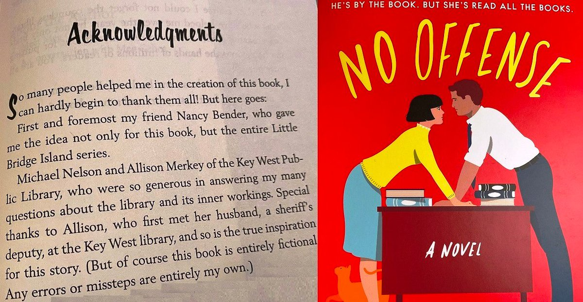 Do you want a novel that is, in part, based on the Key West Library? The answer is yes. Meg Cabot's new book, No Offense, is available for check out in print, eBook and eAudiobook. Place a hold now! @megcabot