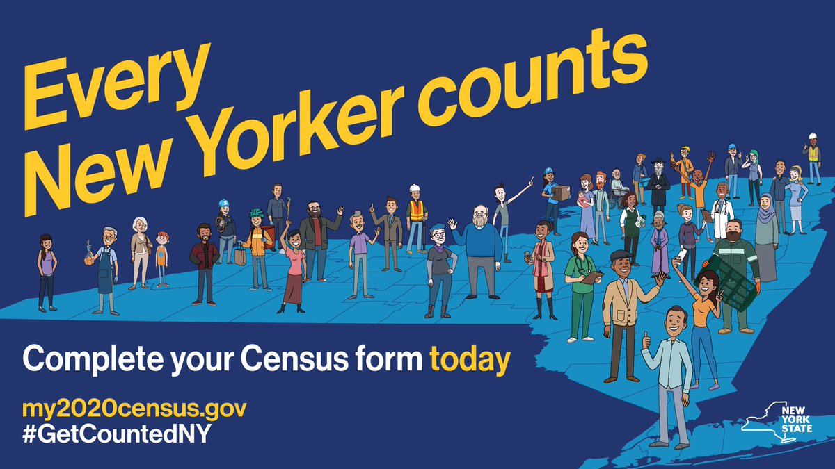 Don't forget to complete the #2020Census.   Every person who responds helps New York State get closer to receiving our fair share of federal funding. Your voice counts!  #GetCountedNY