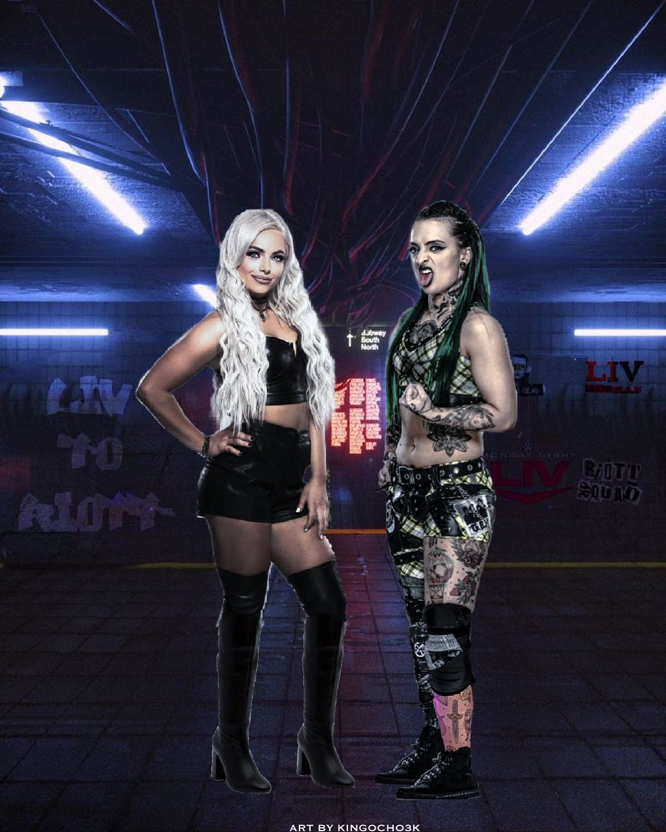 I'm super excited to see the next chapter of @YaOnlyLivvOnce and @RubyRiottWWE together as a tag team again tonight on #MondayNightLiv.Also,here's my edit I made of them and I hope you guys like it.#WWE #fanart