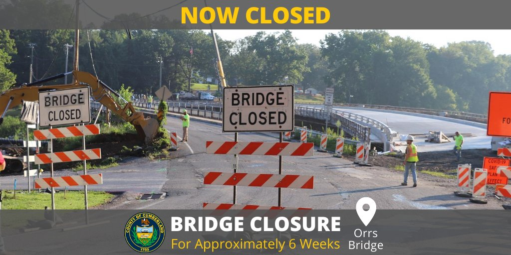 Orrs Bridge Is NOW Closed For Approximately 6 Weeks As Part Of The Replacement Project. 🏗  Project Updates ➡️