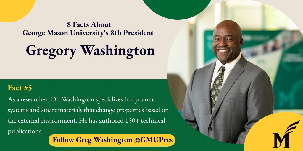 RT @GeorgeMasonU: . @GMUPres has also authored ✍️  more than 150 technical publications as an #engineer.