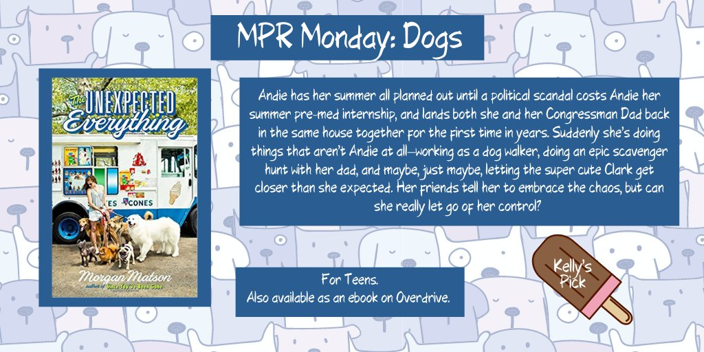 This week's #MyPerfectRead theme is #DOGS! For teens, Kelly recommends