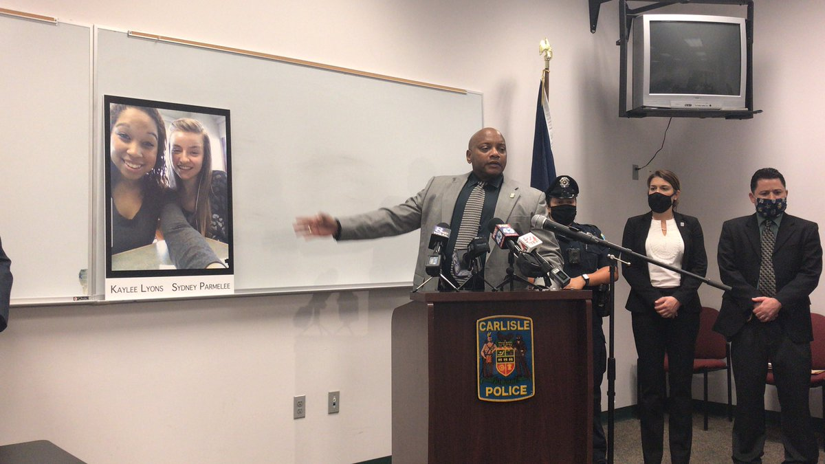Chief Landis: This is about them. This is about these two young ladies and their families.