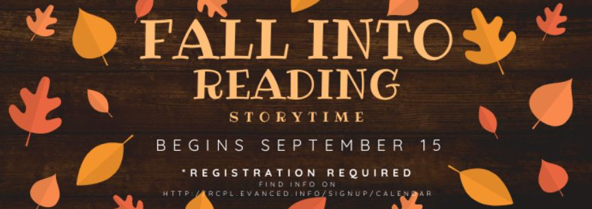 We're going to be starting up a socially distant storytime at the Beckley branch this fall starting September 15. Registration is required.  Call 304-255-0511, ext. 3 for more information.