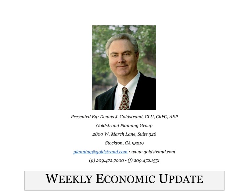 Here is the Weekly Economic Update for the week of August 3, 2020, brought to us by Goldstrand Planning Group. Select the link below to get caught up on the following: Stocks rise as earnings season winds to an end; no results in fiscal stimulus talks.
