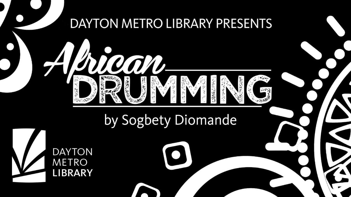 You won't want to miss our virtual event this evening –  African Drumming by Sogbety Diomande.  To register: