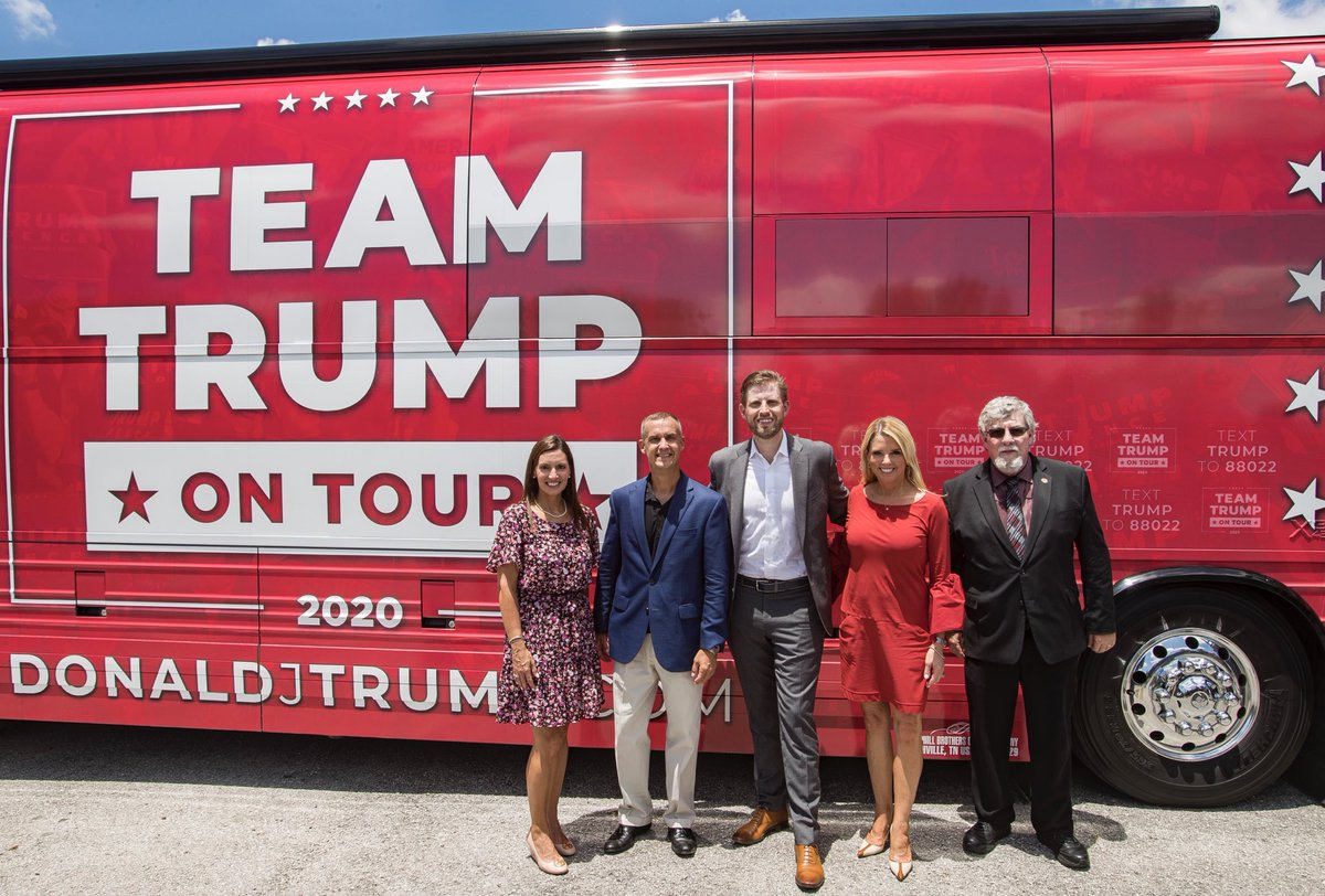 Great day in Florida on the @TeamTrump bus Tour with @EricTrump, @PamBondi @LtGovNunez. On To Victory!