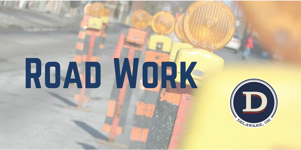 Reminder: @ODOT_Columbus scheduled to begin resurfacing Central Avenue, from the Point to Troy Road, on Wednesday - weather permitting. Work hours to be 7 pm-6 am. For more information, residents can email pwcs@delawareohio.net or phone 740-203-1810
