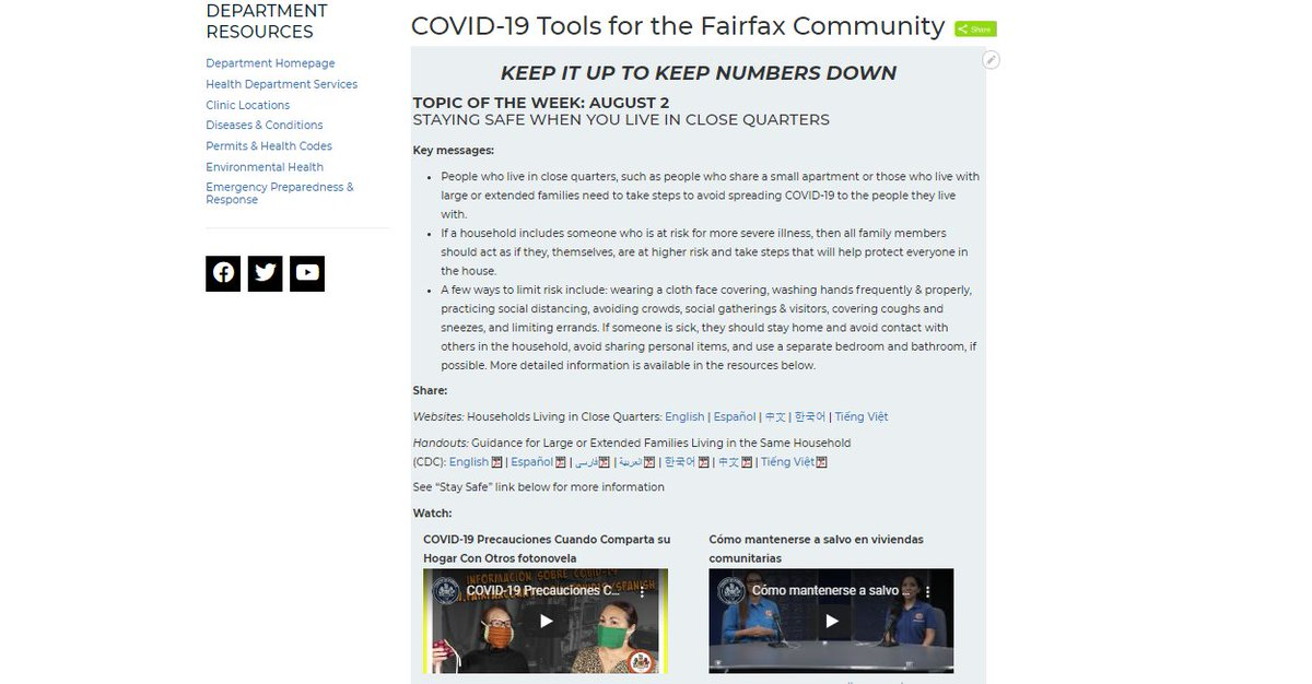 We've launched a new partner portal for local community leaders and organizations with shareable information about COVID-19 safety curated according to health messages. Learn more:   #FFXCOVID