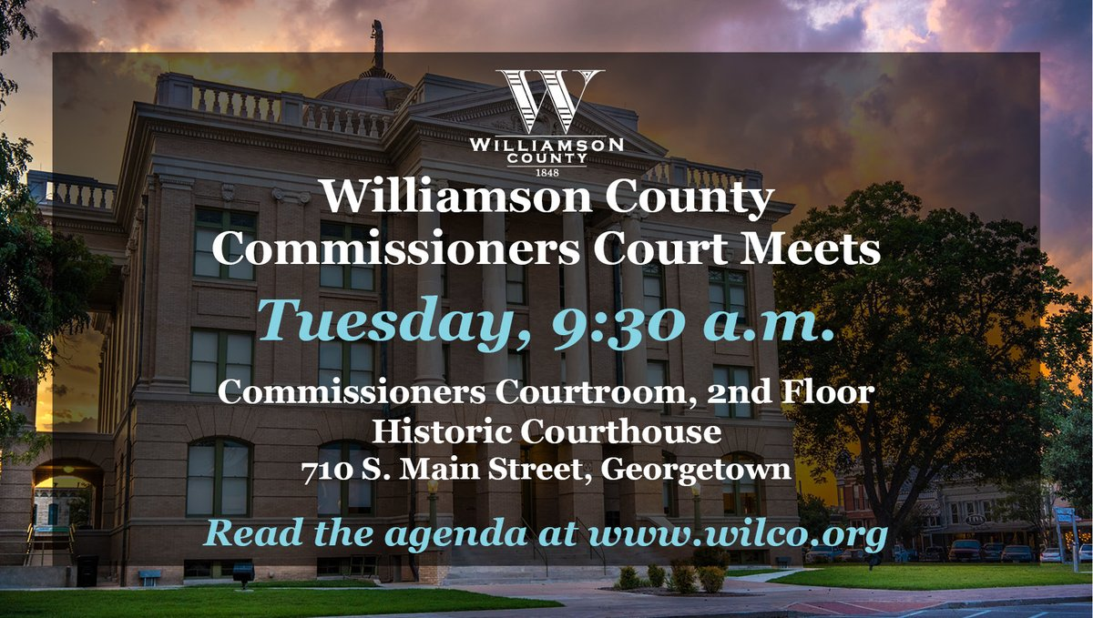 The Commissioners Court meets Tues. to discuss & consider the General Election on Nov. 3; forming a committee to research & provide comments regarding the location of the Confederate Soldiers & Sailors Monument; & hold a Budget Modification Voting Session.