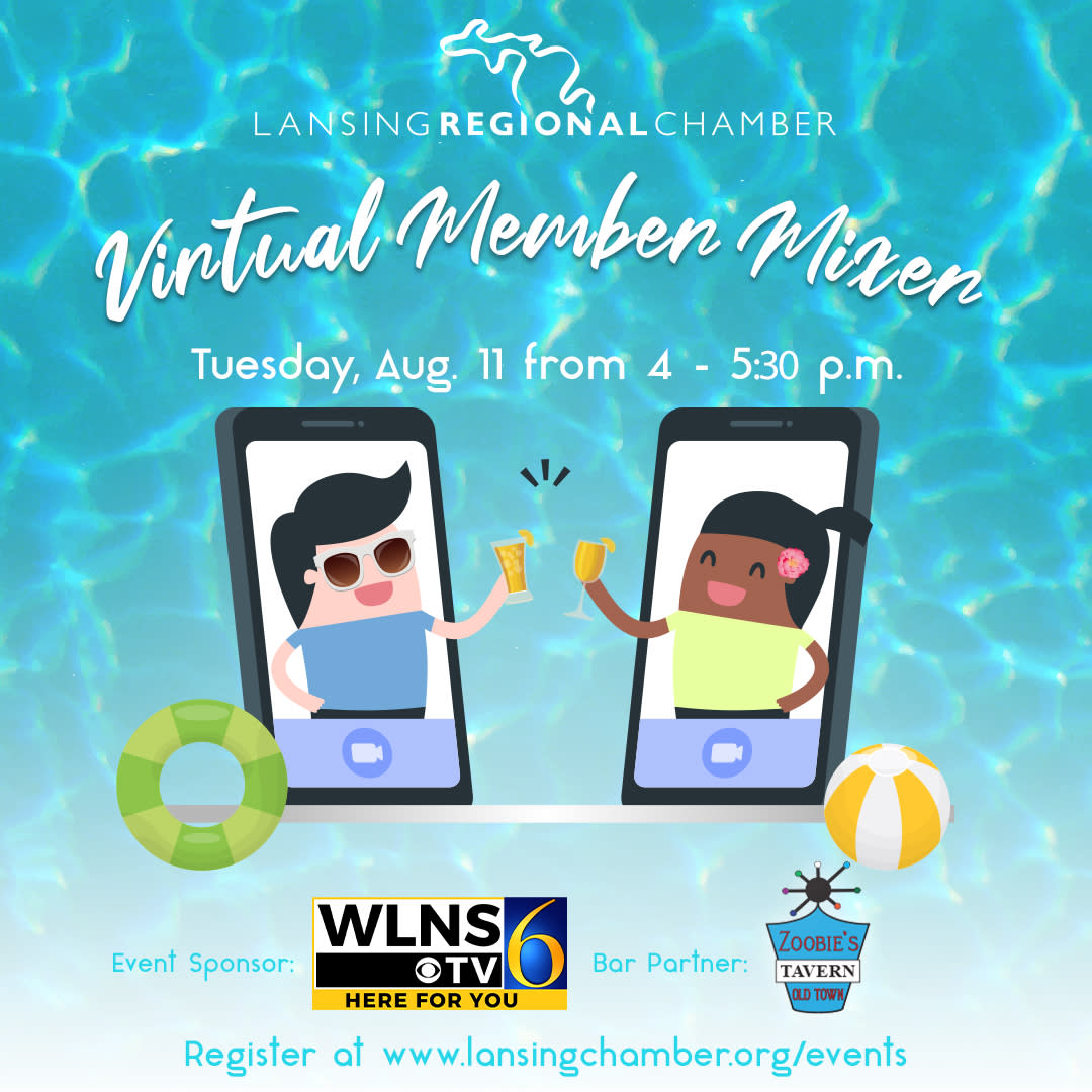 🚨 Don't forget that our August Member Mixer, sponsored by @WLNS, will take place tomorrow!   Get the most out of your Lansing Regional Chamber membership and network with your fellow Chamber members.   💻 Register here: