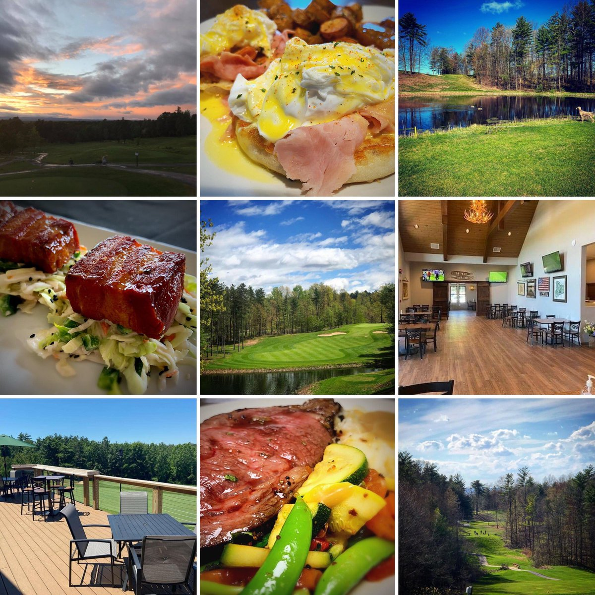 Visit @SaratogaLakeGC & @The_Hideaway_NY! Saratoga Lake Golf is a par 72 public golf course in the heart of a lush forest. The Hideaway has a menu that has something for everyone! Indoor and outdoor seating. Brunch! Events! Phone: (518) 306-1900 Web: