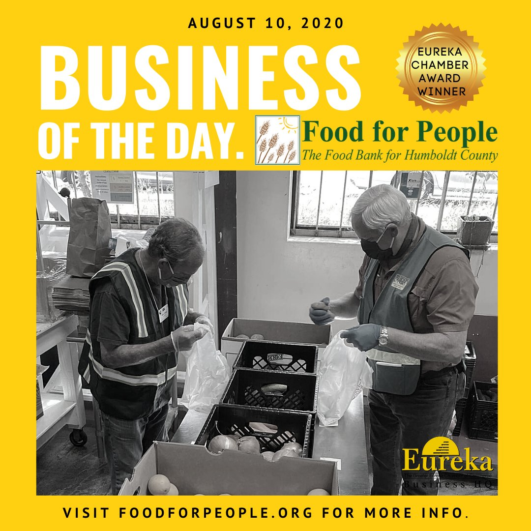 Our #businessoftheday goes out to Humboldt County's official food bank, #FoodforPeople; For more than 40 years this wonderful #nonprofit organization has been committed to making sure no one in the community goes hungry. #noonehungry #endhunger MORE HERE: