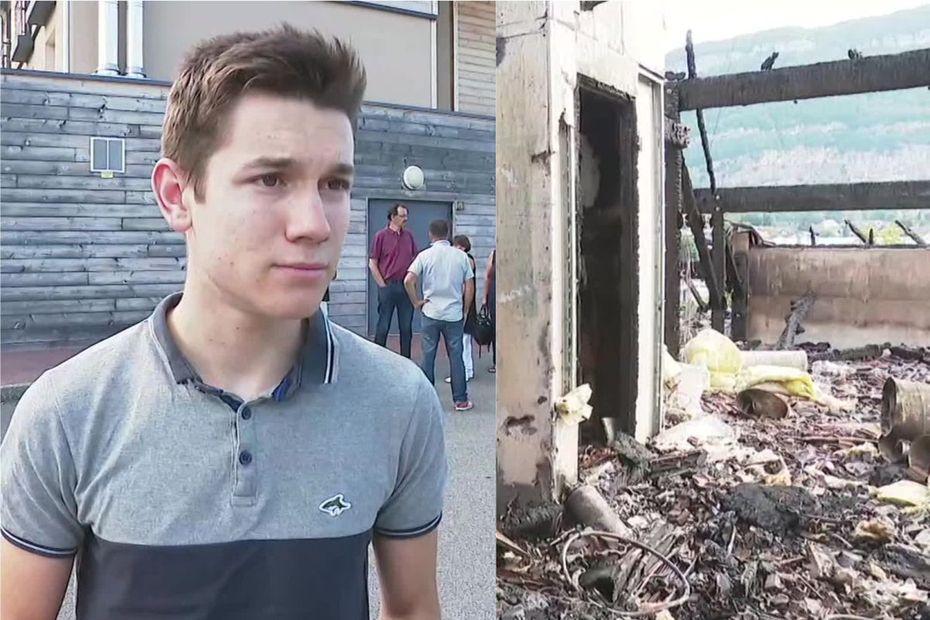 Incendie à l'Ehpad de #Sillingy : alors qu'il passe devant à moto, Clément, 18 ans, entre dans le bâtiment en feu et sauve plusieurs pensionnaires
