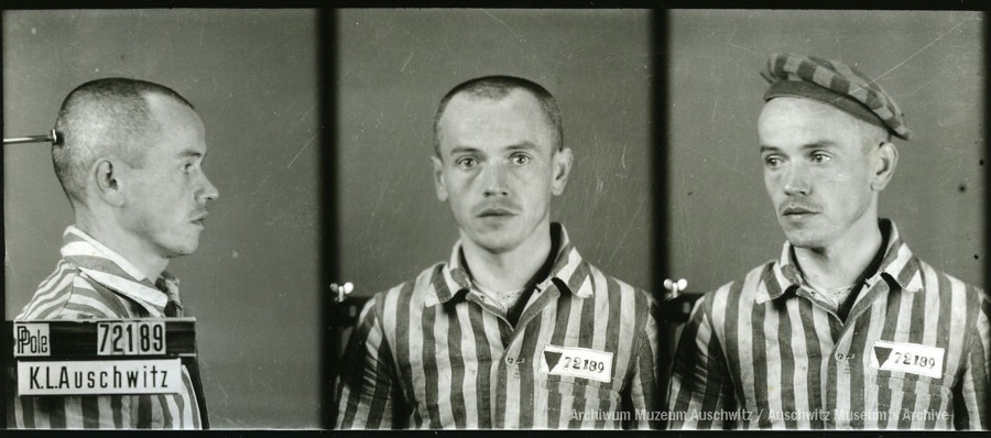 10 August 1916 | Pole Eugeniusz Gembal (or Gębal) was born in Mokratki.  In #Auschwitz from 3 November 1942. No. 72189 He perished in the camp on 29 January 1943.