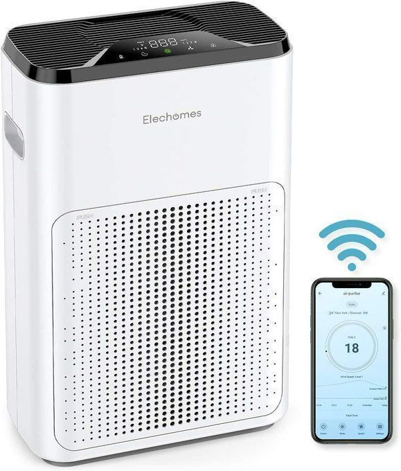 STEAL!!  Large Air Purifier with Phone App Control- only $79.99!!  Over 50% off with code; 50ZORM5C