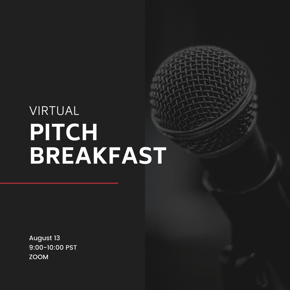 Mark you calendars! Pitch Breakfast is TOMORROW. Details here -->