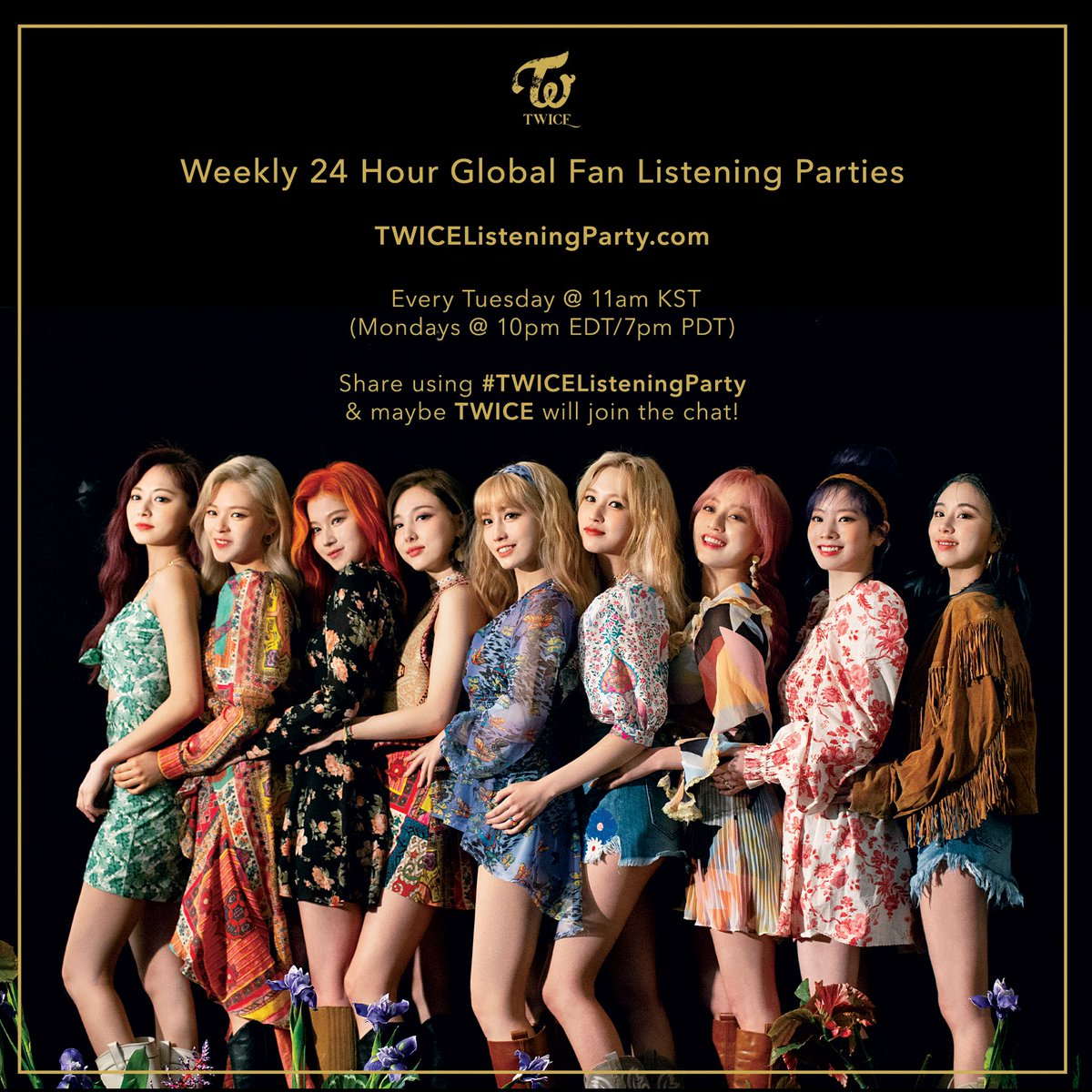 ONCE :) TWICE Weekly Global Fan Listening Party will be starting soon! Join #TWICEListeningParty to go over TWICE songs!  Log in with Spotify or Apple Music here:     #TWICE #트와이스 #TWICEListeningParty