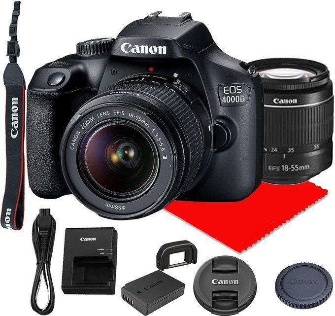 NEW Canon 4000D DSLR Lens Bundle for $319!
