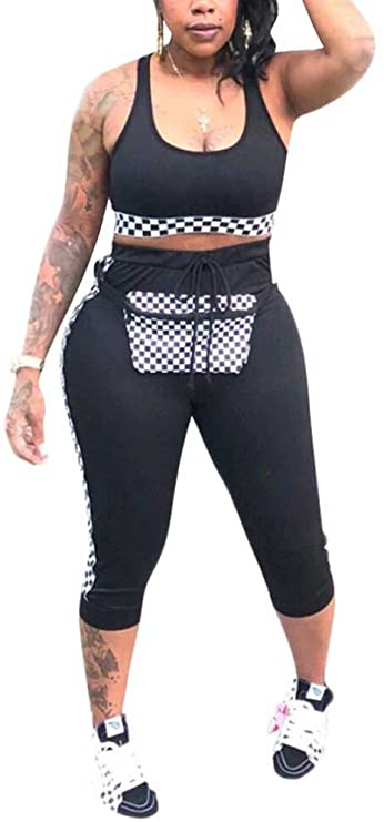 Get a Tank Top Tracksuit Set for $18.19!!  *More colors on the link  Use code; LYPFGDGJ