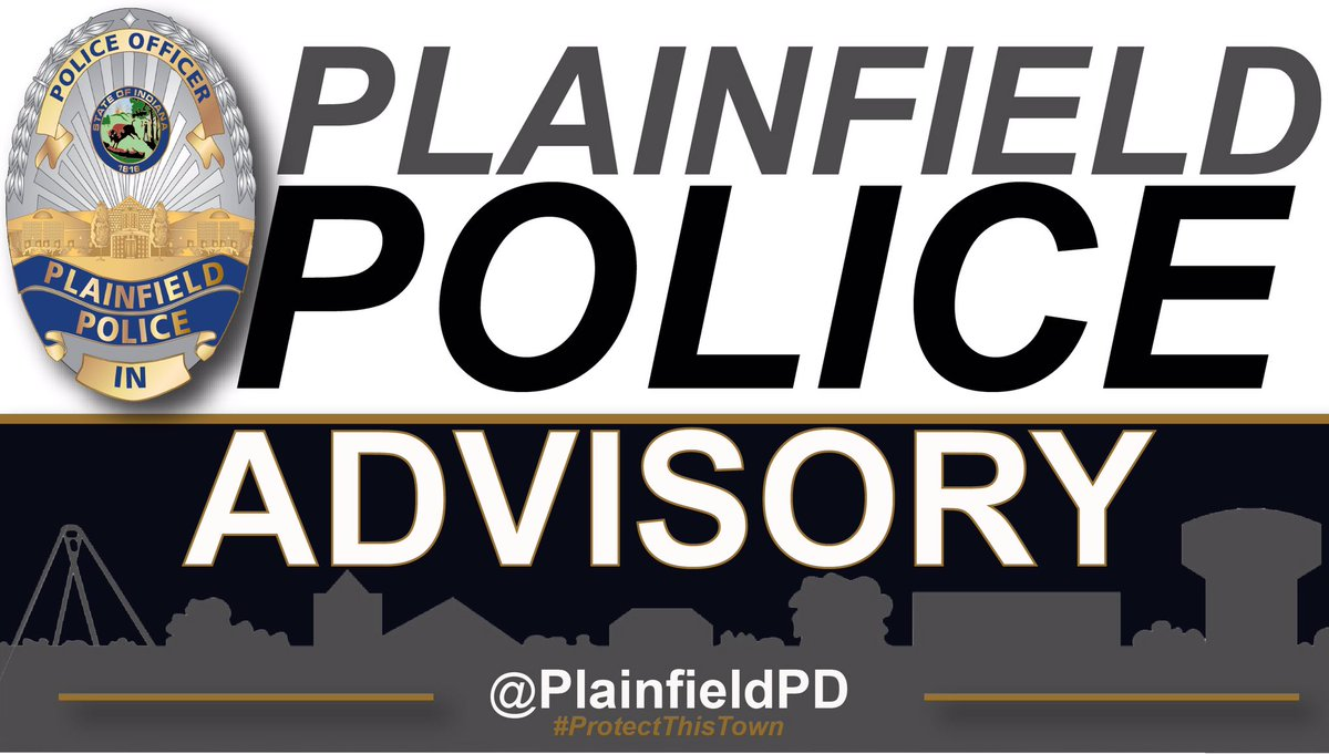Plainfield has some power outages and wind damage due to this evenings storms.  Officers are advising several traffic lights are not operational on the East side of Plfd. Please use caution when traveling and treat each of these intersections as four way stops. 🚦🛑