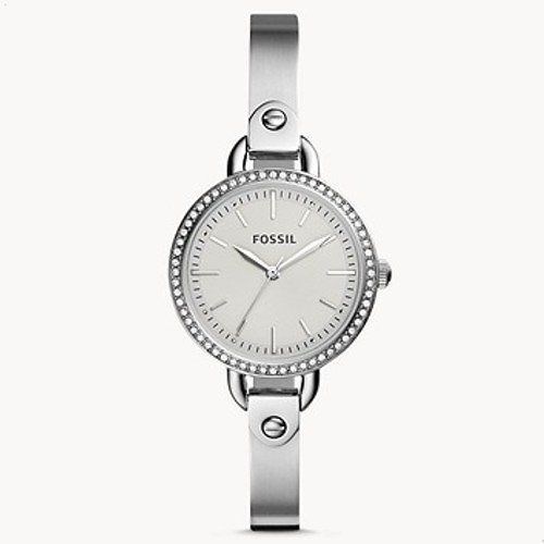 $28.98  Fossil Classic Minute Three-Hand Stainless Steel Watch + F/S