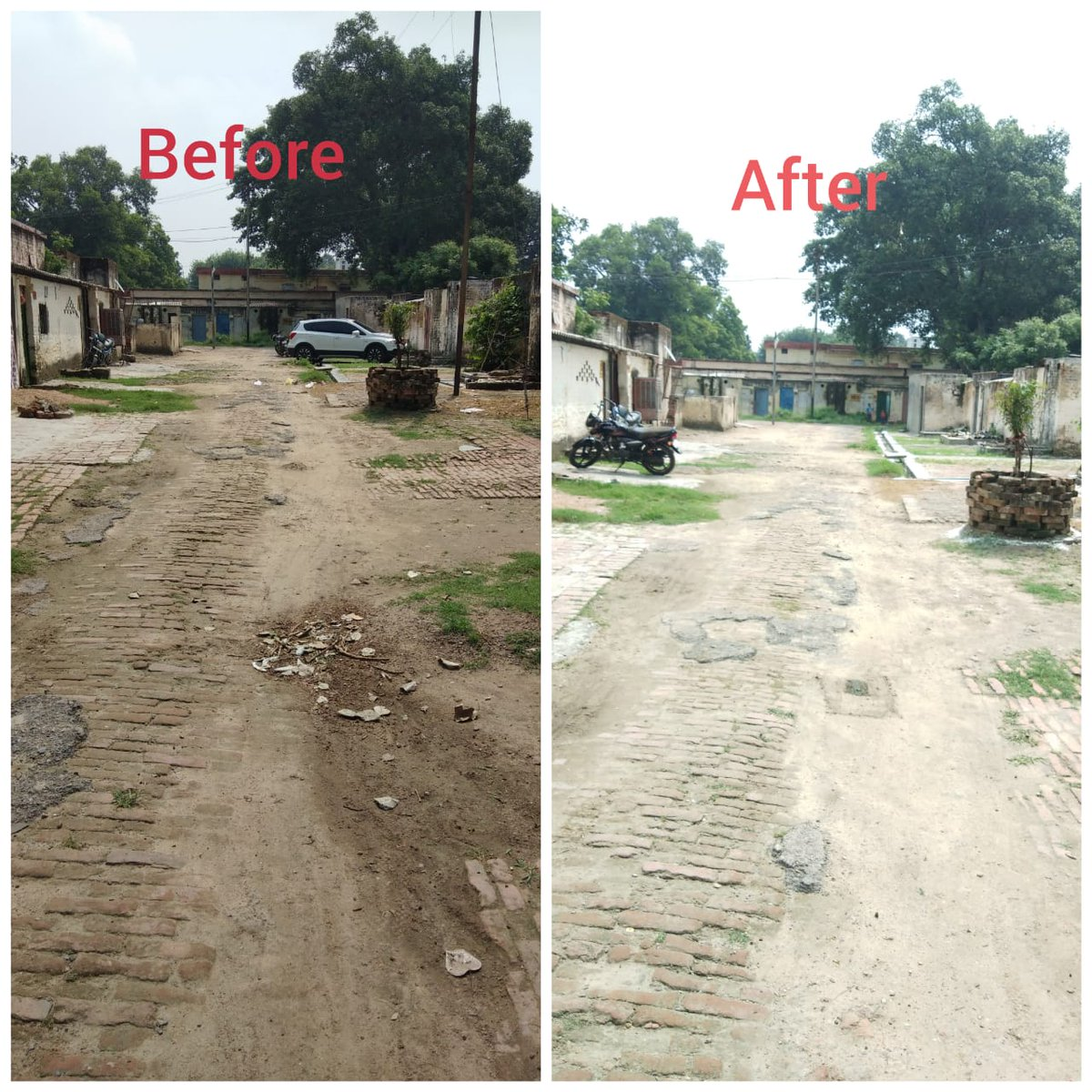 Hygiene & cleanliness are key to deterring the spread of #COVID__19  A special cleanliness drive was carried out in the residential areas of the Railway colonies near Varanasi,Faizabad,Lucknow & Kashi Station.  @GM_NRly @RailMinIndia @swachhbharat @PiyushGoyalOffc @SureshAngadi_