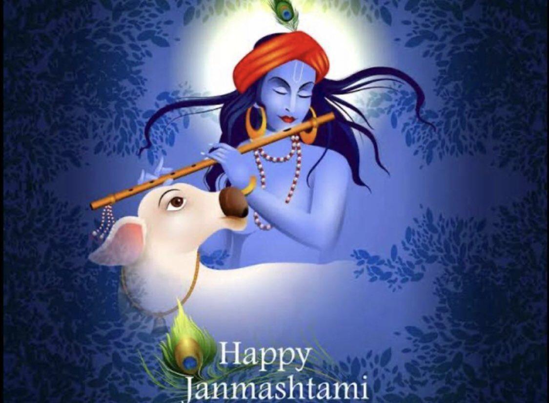 आप सभी को जन्माष्टमी की हार्दिक शुभकामनाएँ!! हम सब पर भगवान कृष्ण का आशीर्वाद बना रहे !! Happy Janamasthami !! May Lord Krishna bless us all. 🙏😍🙏 #JaiShreeKrishna #KrishnaBirthday