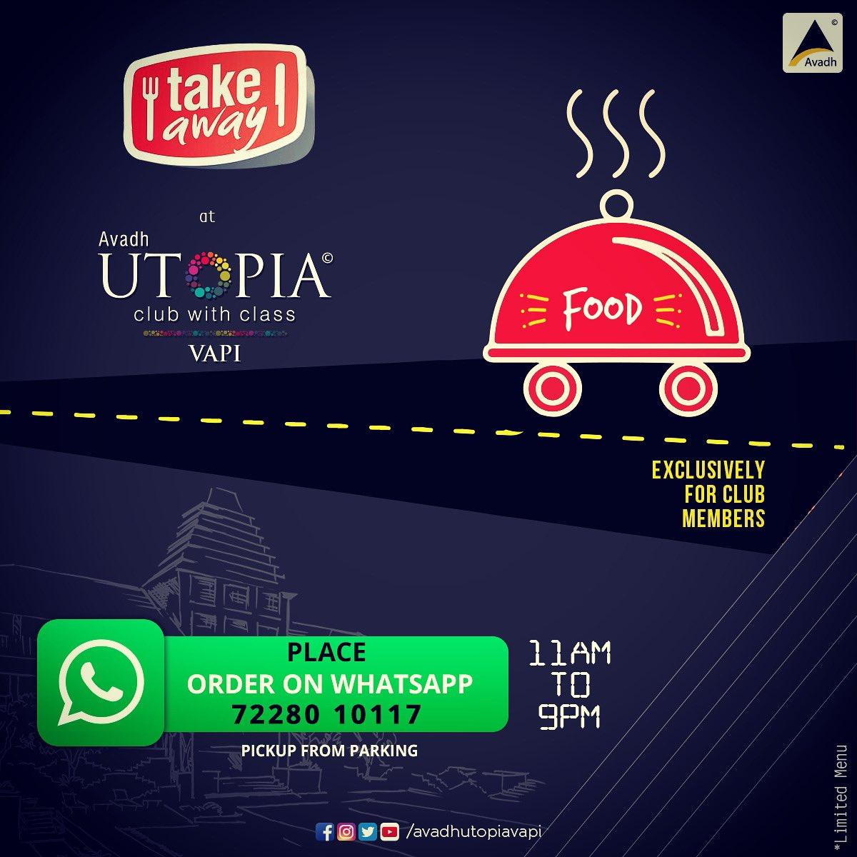 #drivethru #avadhutopia #takeaway #food #vapi #exclusive #clubmembers #utopia #utopian #proudtobeutopian