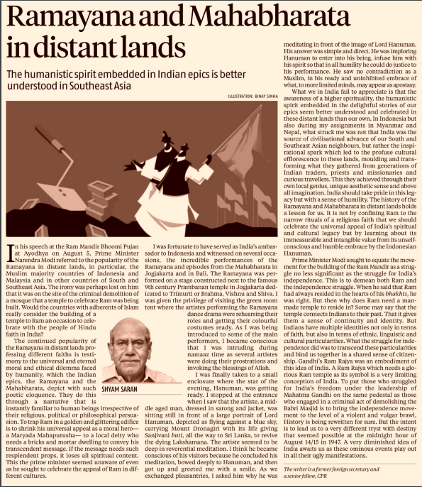 A Ram Rajya which needs a glorious #RamTemple as its symbol is a very limiting conception of India: Shyam Saran writes, independence struggle bound us in a shared sense of citizenship..Gandhi's Ram Rajya was an embodiment of this idea of India @bsindia