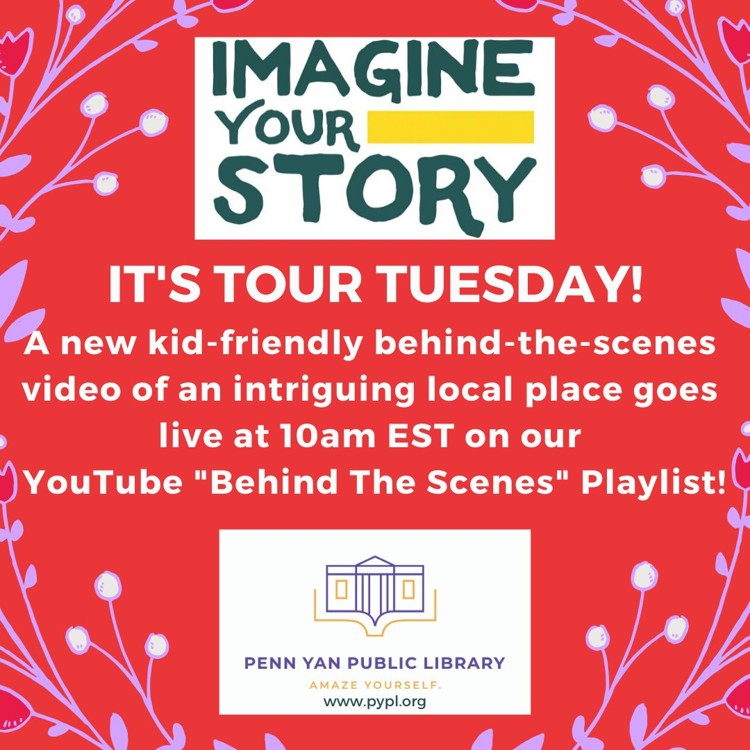 Your clue for #TourTuesday: this local nonprofit has given away nearly 200,000 bags of *something* since 2008. Any guesses? The video goes live at 10am at  #LibrariesFromHome #ImagineYourStory #PennYan