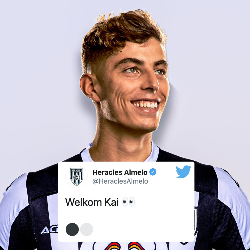 Bayer Leverkusen's manager joked about Kai Havertz signing for Dutch side @HeraclesAlmelo last night.  This morning, they made it official 😉