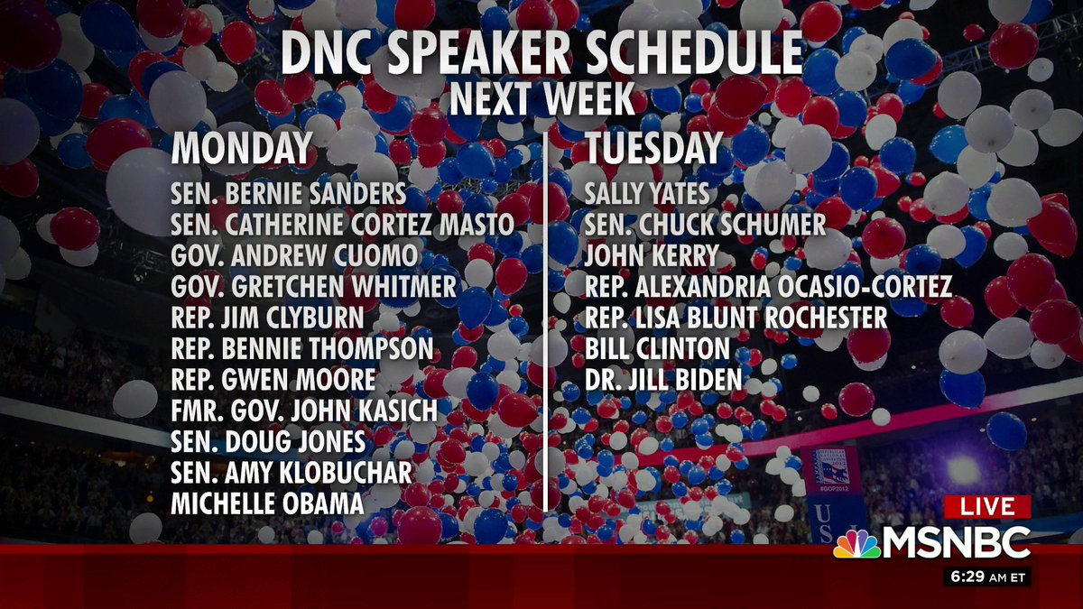 A look at the DNC speaker schedule