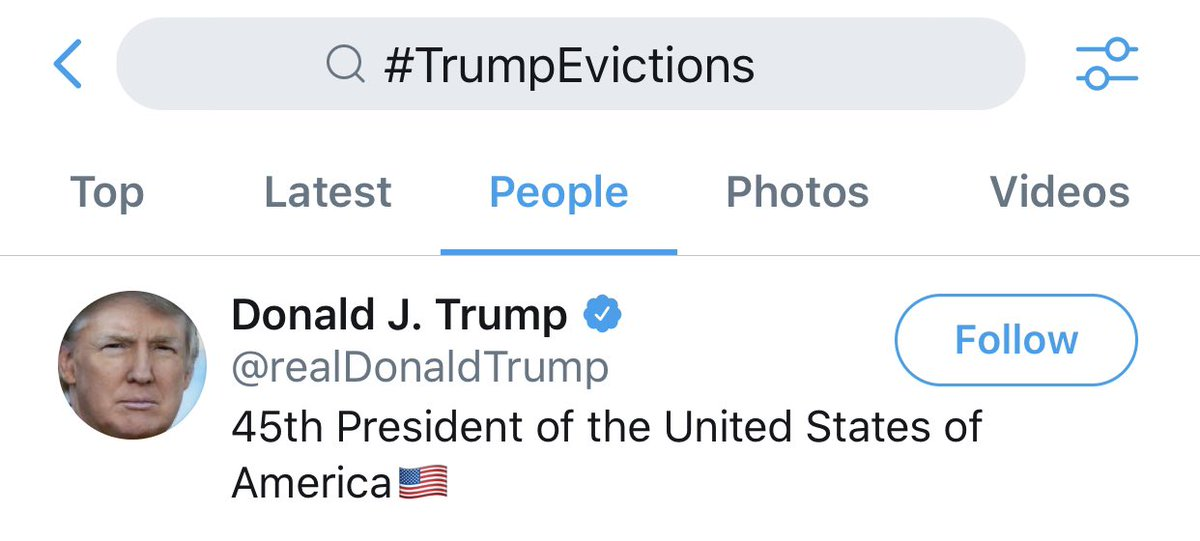 #TrumpEvictions