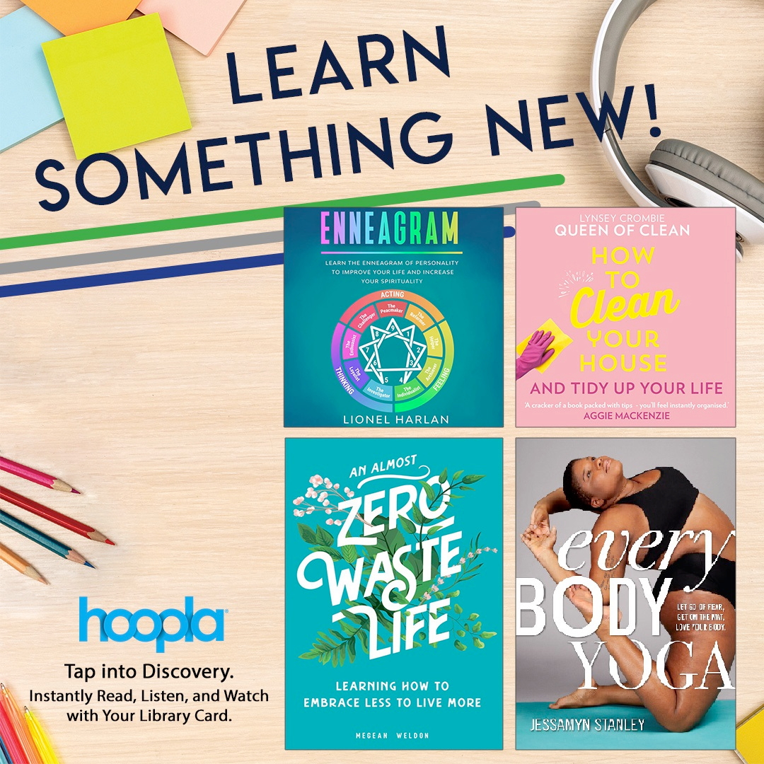 Improve your brain and learn something new with this collection on Hoopla!  From writing and cooking to yoga and French, there's something to satisfy anyone's curiosity.