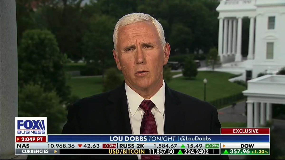 """What the American people saw this weekend was, once again, the decisive leadership of President @realDonaldTrump."" -@Mike_Pence"