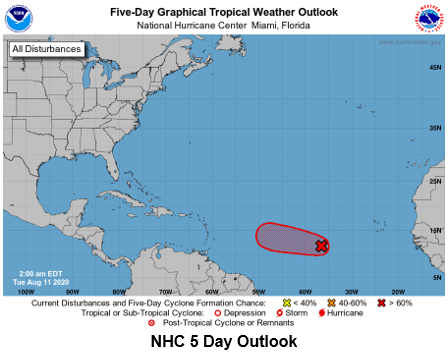 ⚠️ Tropical Update. Invest 95 is still moving Westward in the Atlantic. It's expected to make Tropical Storm strength in the next 24 hrs. & become Tropical Storm Josephine.  🌀 Models, including GFS & Euro, turn the system North as it approaches the Leeward Islands & {Thread}