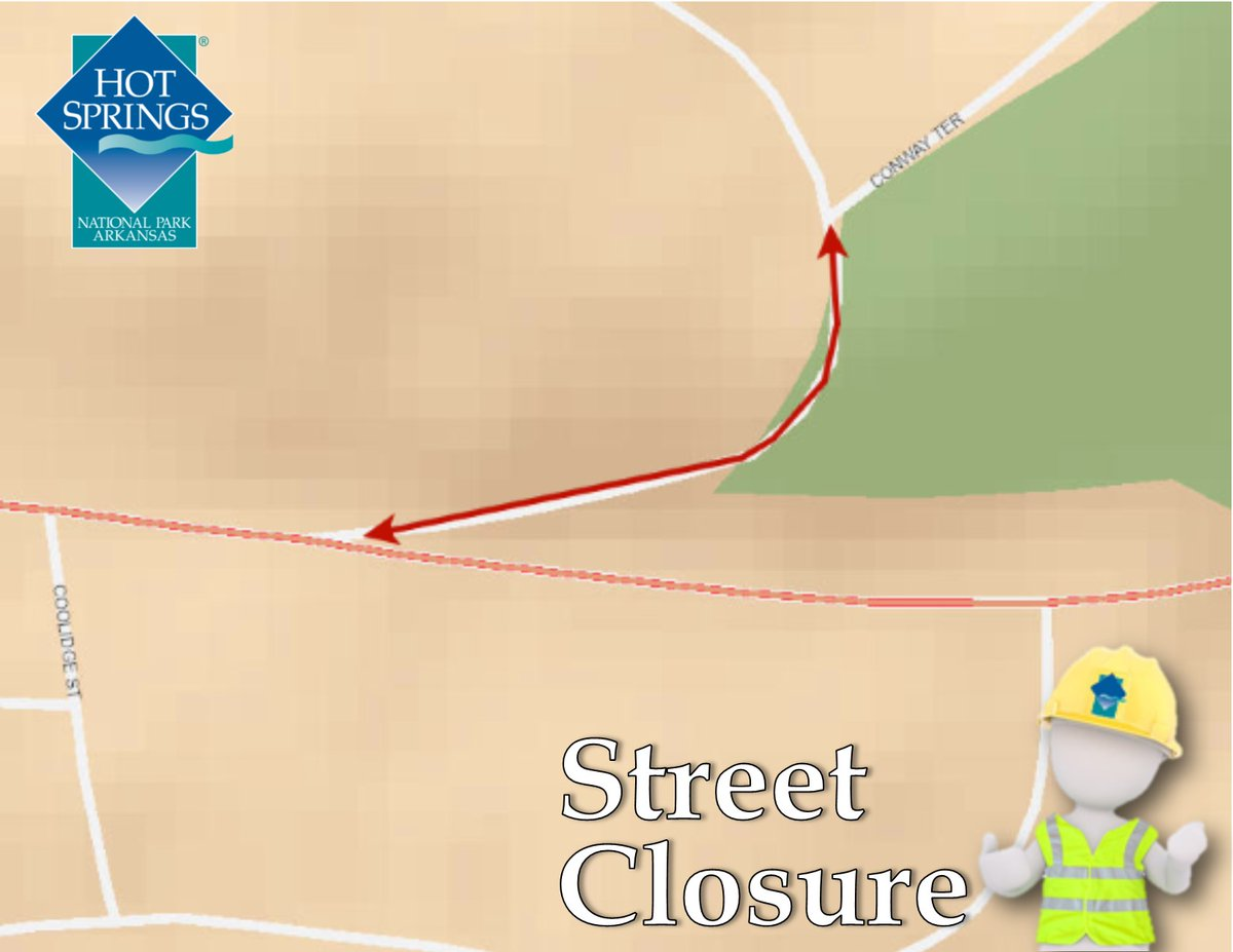 Circle Dr., between Conway Ter S. & Park Ave., will be closed from 10am-3:30pm August 11, for overhead clearance work.   Detour signs will be posted & motorists are advised to seek an alt. route during the closure.  Road Closures Map at .