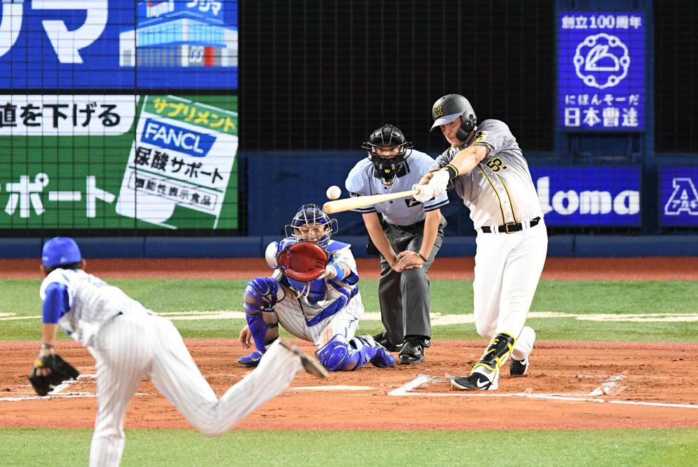 #V打 は #サンズ 選手の6回の適時二塁打です #阪神 #tigers #阪神タイガース #ジェリー・サンズ #決勝打