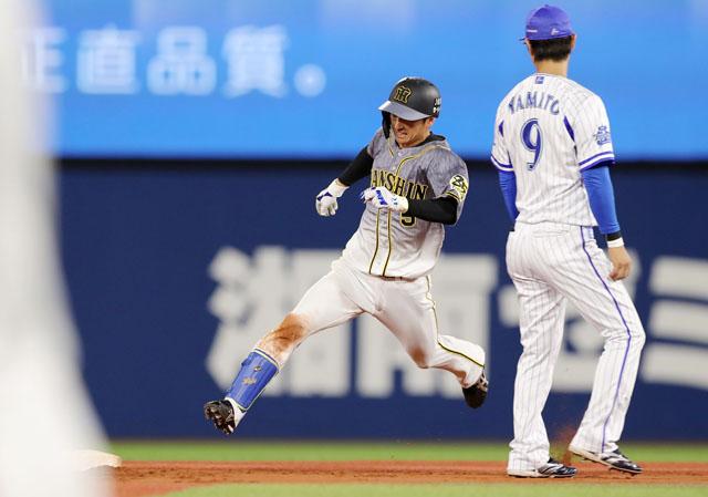 #近本 選手の7回の三塁打のシーンもどうぞ。捕逸で生還しました #阪神 #tigers #阪神タイガース #近本光司  #三塁打 #生還 #ナイス勝利